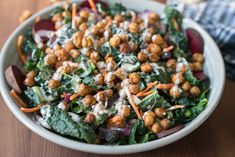 When it comes to eating, my meals reflect the current weather which is why this Roasted Chickpea Kale Salad with Creamy Dressing is perfect this time of year, not the cucumber salad which is very cooling to the body.