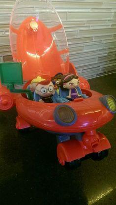 Disney Little Einsteins Pat Pat Rocket: 4 figures, screen  #Disney