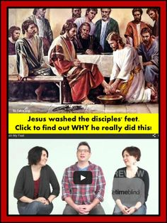 Why did Jesus wash his disciples' feet?  <3 Easter