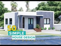 A x simple house design that is complete with: -Living Area -Dining Area Bedrooms -Toilet & Bathroom -Kitchen This one-story, open design house hope. Box House Design, Modern Bungalow House Design, Narrow House Designs, Small Modern House Plans, Small Bungalow, Modern Small House Design, House Outside Design, Small House Interior Design, Simple House Design