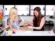 DIY Fashion | Ribbon Chain Bracelets with Evelina Barry!