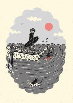 Hang Ten, Surf Drawing, Wallpaper Animes, Skate Art, Skeleton Art, Blog Logo, Iphone Background Wallpaper, Surf Art, Ink Illustrations