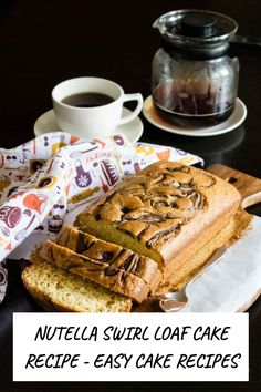 This Nutella swirl loaf cake is the perfect afternoon tea cake that comes together quickly and easy. Eggless Recipe option inside MADE WITH PINGENERATOR.COM Eggless Recipes, Vanilla Recipes, Sponge Cake Recipes, Easy Cake Recipes, Homemade Vanilla Cake, Afternoon Tea Cakes, Swirl Cake, Lime Cake, Nutella Cake