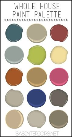 7 Steps to Create Your Whole House Color Palette | Colour chart ...