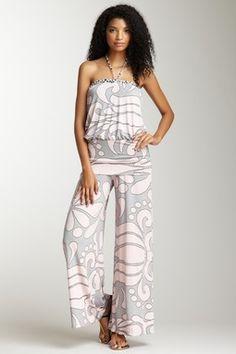 Analili Sleeveless Printed Jumpsuit
