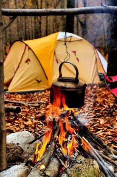 Why does coffee taste better over a campfire in the morning?