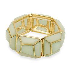 Turtleback Gemstones Stretch Bracelet [ECEVB1168GDMN] #fashion #trend #jewelry #wholesale24x7