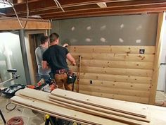 DIY man cave: How to install wood paneling
