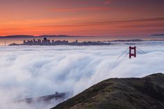San Francisco covered in clouds