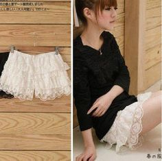Lace layers safety legging - US$ 7.61