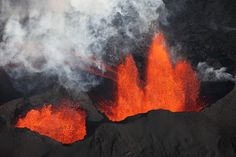 Bardarbunga Volcano, Holuhraun fissure eruption, Lava fountains