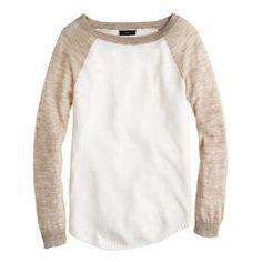 Linen baseball sweater - Pullover - Women's sweaters - J.Crew