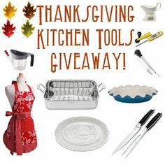 HUGE Thanksgiving Kitchen Tools Giveaway! (Valued at $243) via thefrugalfoodiemama & friends