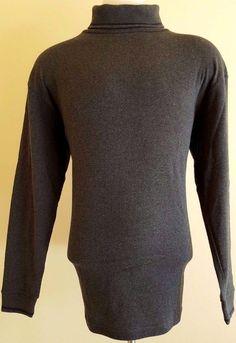 WOOLRICH Turtleneck SHIRT Gray XL Mens NWT New Cotton USA Charcoal SIZE Man SZ** #Woolrich #Turtleneck