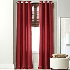 Red curtains (grommet)- JCPenney