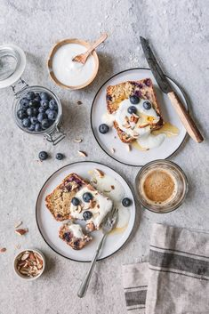 ... healthy blueberry bread with greek yogurt ... #health #recipe
