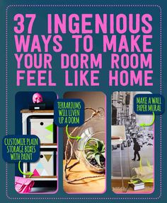 37 Ingenious Ways To Make Your Dorm Room Feel Like Home (I LOVE #28!)
