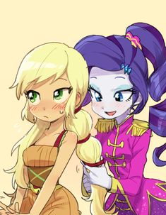 Rarity and AJ! Friendship through the age