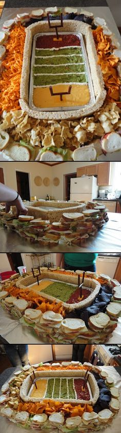 The Snackadium   What is a snackadium? Why, it's a stadium built of snacks, of course. - created via http://pinthemall.net
