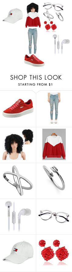 """""""All Red"""" by queennicki1019 on Polyvore featuring Puma, Cheap Monday and Tommy Hilfiger"""