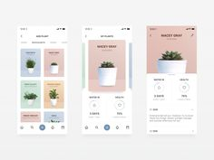 Plantly - Plant Watering App by Annie Loxton Best Picture For dating App Design For Your Taste You are looking for something, and it is going to tell you exactly what you are looking for, and you didn Best App Design, App Ui Design, Web Design Trends, Flat Design, Design Websites, Typography App, Web Design Mobile, Design Responsive, Mobile Ui Patterns