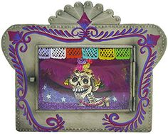 Traditional Mexican nichos are considered household altars and usually depict religious figures such as the Virgin of Guadalupe or patron saints, but can vary with other themes like Day of the Dead and Loteria.  They are used as shrines for protection or devotional objects, and are therefore expertly handmade from tin and glass with beautifully painted depictions.