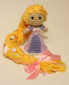 Rapunzel Tangled Disney Princess Crochet Doll Amigurumi. Gonna have to find this pattern!!