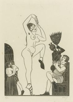 """by Eric Gill, """"The Dancer,"""" from a set on The Song of Songs."""