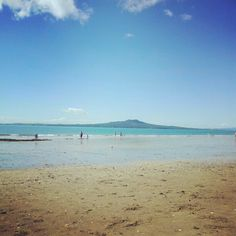 View of Rangitoto Island from Milford Beach, Auckland's North Shore