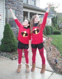Twin Incredibles   DIY Halloween Costume Ideas