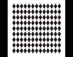 Small Diamonds Pattern Stencil Select Size By por StudioR12 en Etsy