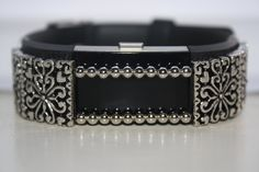 """Fitness Sparkle Accessory - Fitbit Charge 2 - Fitbit Alta """"Silver Filigree Hearts"""". Add a a lot of style to your fitness tracker band. Accesible with Fitbit Charge 2 and Fitbit Alta. Size Approximately 3"""" in length. Slides onto listed fitness bands easily. Does not include band or fitness tracker."""