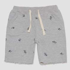 def581a4 Junk Food Toddler Boys' Disney Mickey Mouse Lounge Shorts - Gray : Target  Mickey Mouse