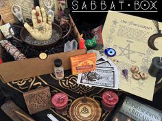 Something NEW for the Pagan Community - Sabbat Box - A subscription box for Pagans, delivered to you prior each sabbat, filled with an assortment of products to enrich your spiritual path and inspire you to live magically.   This is really coo!