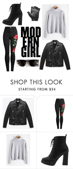 """""""Modern Girl"""" by sabrina-lavor-pereira ❤ liked on Polyvore featuring Ray-Ban and modern"""