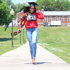 When you're walking on air so no shoes are needed. | 45 Photos Of Black Graduates Guaranteed To Make You Say 'YAASS'