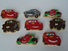 Cars inspired decorated cookies