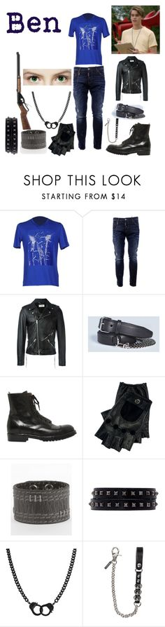 """""""Bad King Ben"""" by keih95 ❤ liked on Polyvore featuring Maison Margiela, Dsquared2, Yves Saint Laurent, Officine Creative, Ralph Lauren, BKE, Valentino, Bling Jewelry, Ryder and men's fashion"""