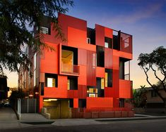 Formosa 1140 - Multi family housing in West Hollywood by Lorcan O'Herlihy Architects AIA Los Angeles Firm of the Year)