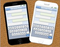 "Spell then ""text"" on laminated iPhones to practice spelling words"