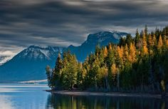 Early Light on Montana Lake - by Photo.net photographer Dominick Marino