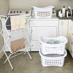 Stackable Laundry Baskets Enchanting Stackable Openfront Laundry Baskets  The Perfect Laundry Room Decorating Design
