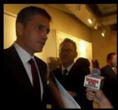 Jim Caviezel...and Michael Emerson looks on...