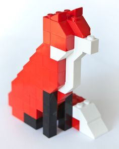 "Lego Fox ""Taxidermy"" kit by David Cole. You can purchase the kit for $29.00 here: https://www.etsy.com/shop/TheSquareNecessities"