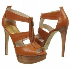 MICHAEL MICHAEL KORS Womens Berkley Platform Luggage Leather Design works No.577  Green Heels 