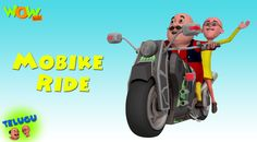 Motu and patlu are given the responsibility to clean up an expensive bike for a competition. Motu wants to take a small ride and convinces patlu for it. Now that they have started they bike, they do not know how to stop it. Dr.jhatka, ghasitaram and chingam are all coming up with various ways to stop the bike without harming it. Will they be able to stop it? Watch Mobike Ride - Motu Patlu In Telugu  https://youtu.be/JPUGdPnOk3w