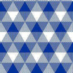 English blue triangle gingham fabric by weavingmajor on Spoonflower - custom fabric