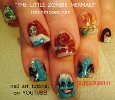 Nail-art by Robin Moses sick and twisted disney princesses   http://www.youtube.com/watch?v=4pK8IlNDong