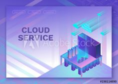 Cloud service isometric infographic illustration with man, landing page layout, vector web template, smart modern technolodgy concept Page Layout, Infographic, Clouds, Concept, Templates, Landing, Illustration, Modern, 3d