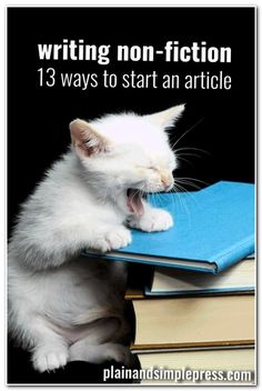 Writers When writing a magazine article or other non-fiction, youve got to connect with the reader quickly. Here are 13 ways to start an article. Essay Writing Tips, Article Writing, Writing Advice, Writing Resources, Writing Help, Writing Skills, Writing Services, Writing A Book, Writing Ideas
